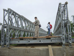 Stability Timber Deck Bailey Bridge temporary For pedestrian , galvanized