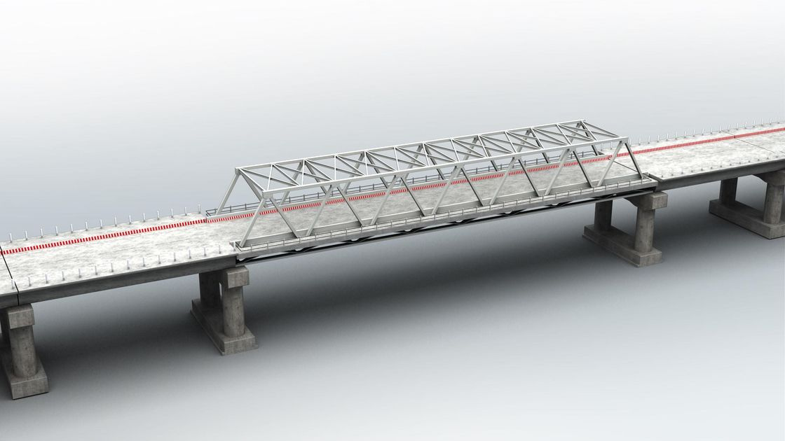 Permanent Assembly Steel Truss Bridge Concrete Deck for Medium Spans