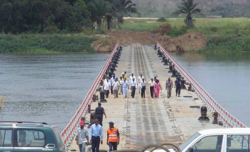 Reusable Floating Pontoon Bridge Inconvenient Traffic For Rivers